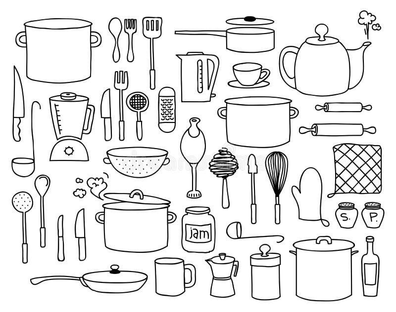 Griffonnage de cuisine illustration libre de droits