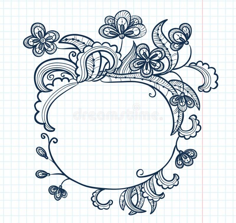 Griffonnage de Flaral illustration de vecteur
