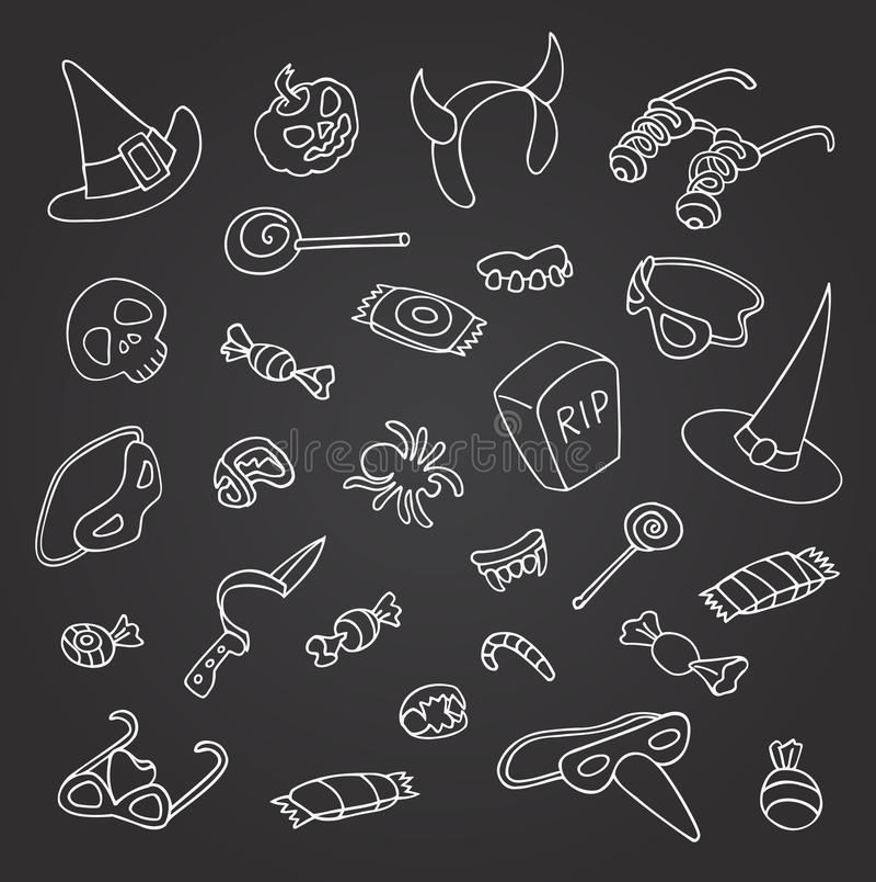 Griffonnage de Halloween illustration stock