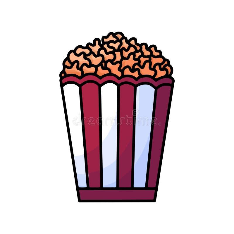 Griffonnage de maïs de bruit Calibre de logo Élément d'aliments de préparation rapide Typographie pour la conception de bannière  illustration stock