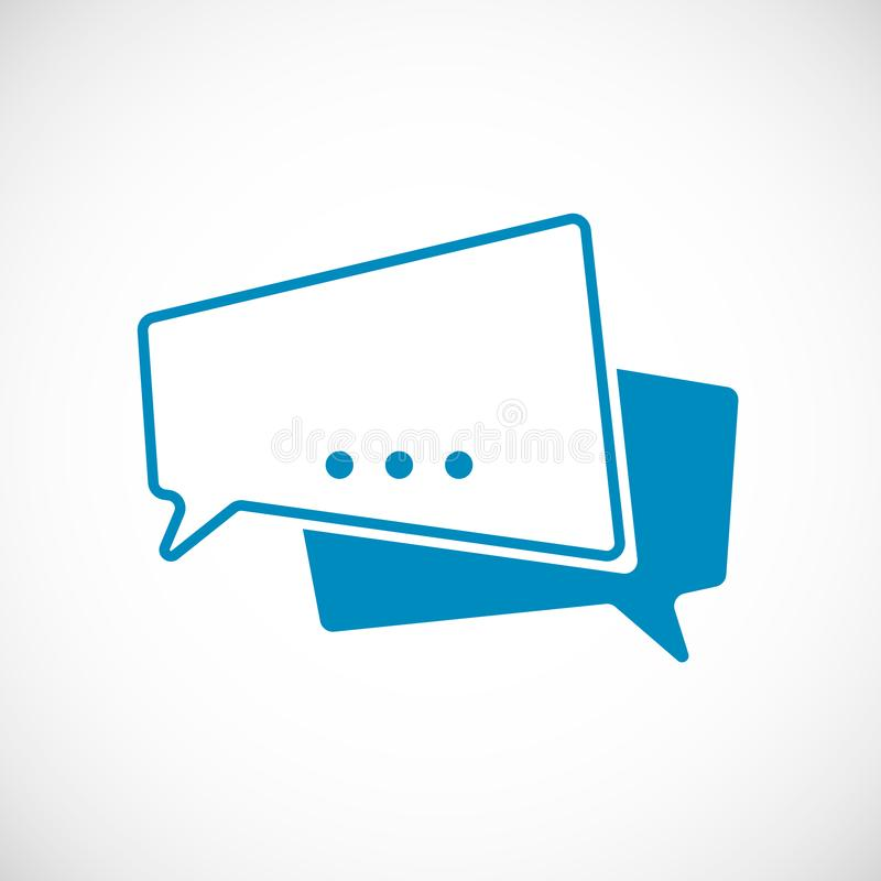 Griffonnage de message de causerie Message en tant qu'icône de Web de bulle de la parole Élément d'icône de Web pour les apps mob illustration libre de droits