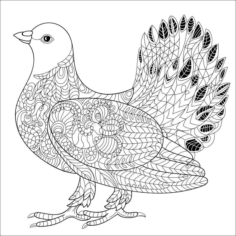 Griffonnage de pigeon illustration libre de droits