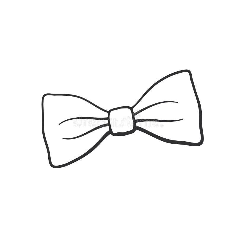 Griffonnage de rétro noeud papillon illustration de vecteur
