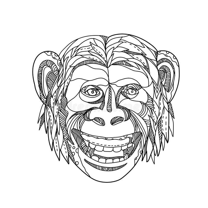 Griffonnage de sourire de Humanzee illustration libre de droits