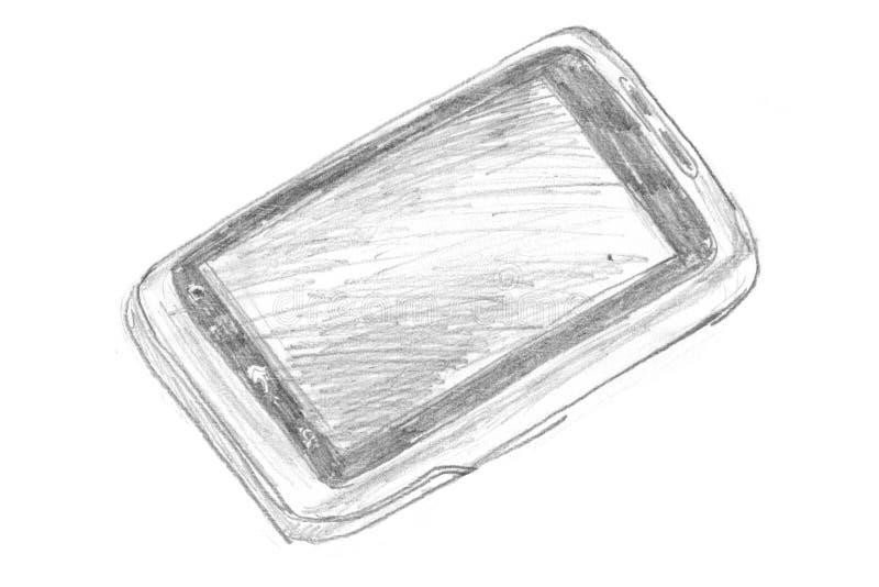 Griffonnage de téléphone illustration stock