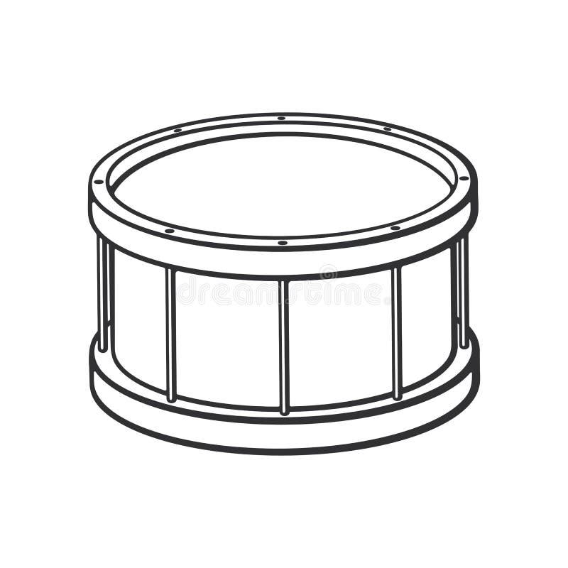 Griffonnage de tambour classique illustration de vecteur