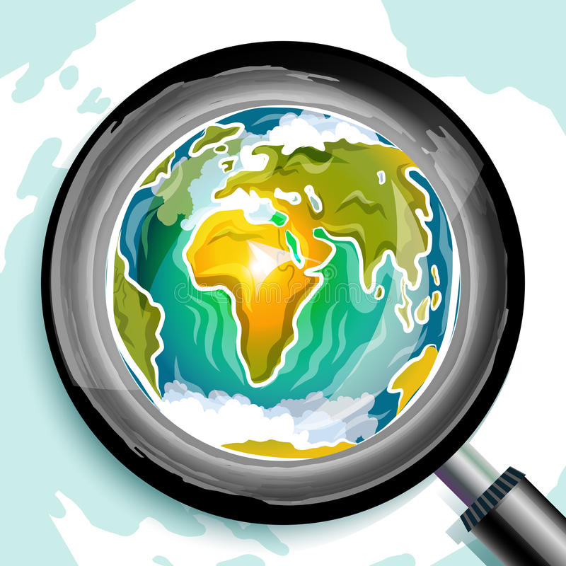 Griffonnage global de recherche illustration libre de droits
