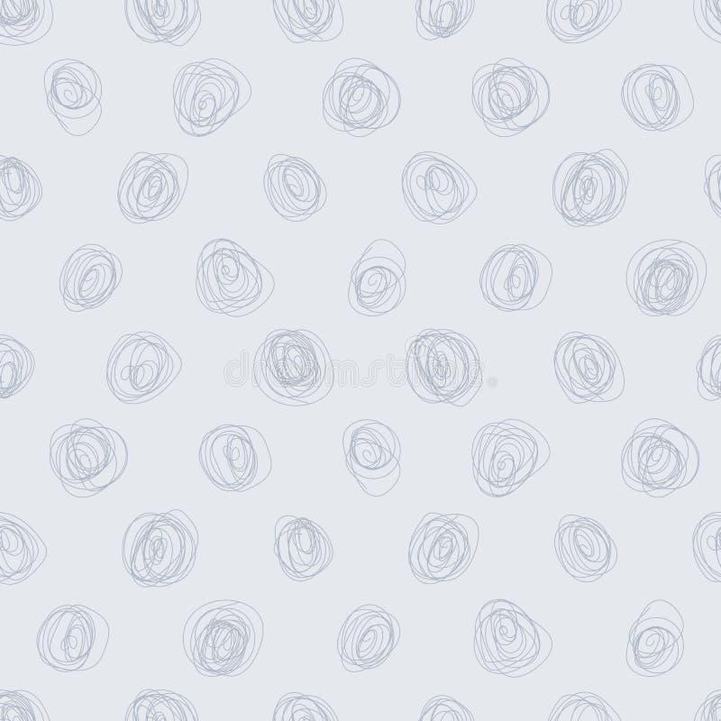 Griffonnage sans couture Dot Background illustration stock