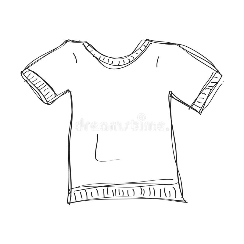Griffonnage simple d'un T-shirt illustration de vecteur