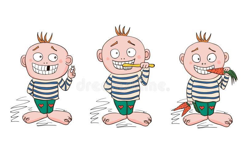 Griffonnages avec les dents saines Illustrations de vecteur, EPS10 photographie stock libre de droits