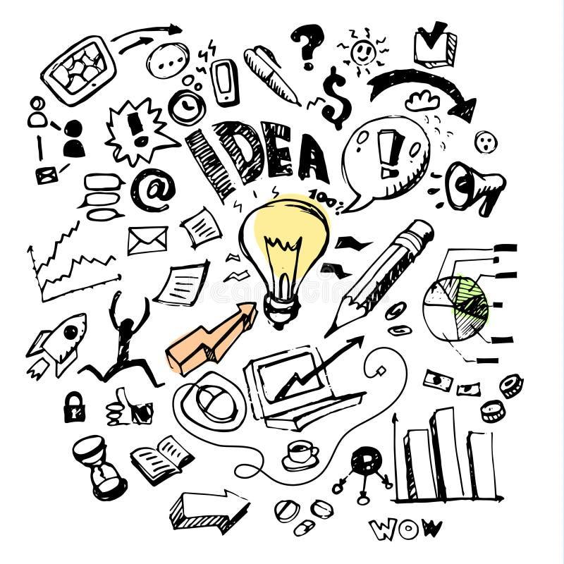Griffonnages d'affaires Idée illustration libre de droits