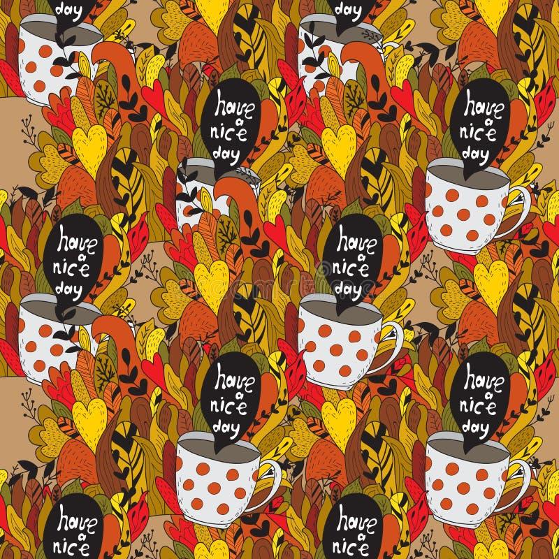 Griffonnages d'automne - automne illustration libre de droits