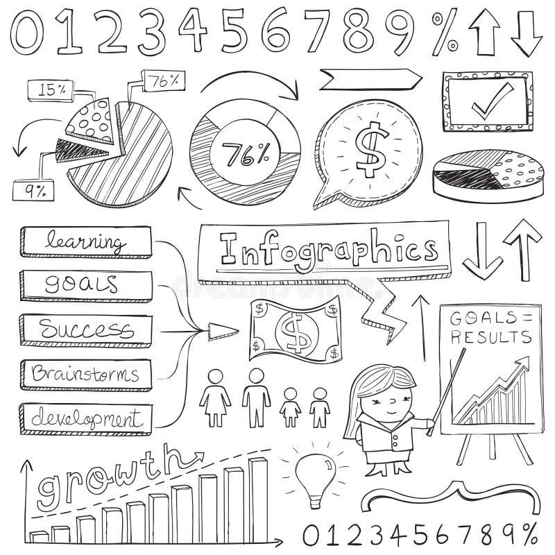 Griffonnages d'Infographic illustration libre de droits