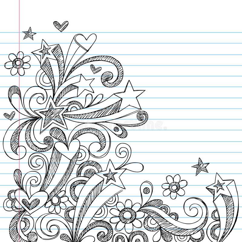 Griffonnages peu précis abstraits de cahier illustration de vecteur