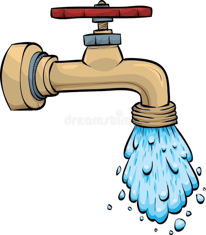 Grifo de agua ilustración del vector