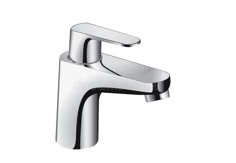 Grifo de plata del cuarto de baño ilustración del vector