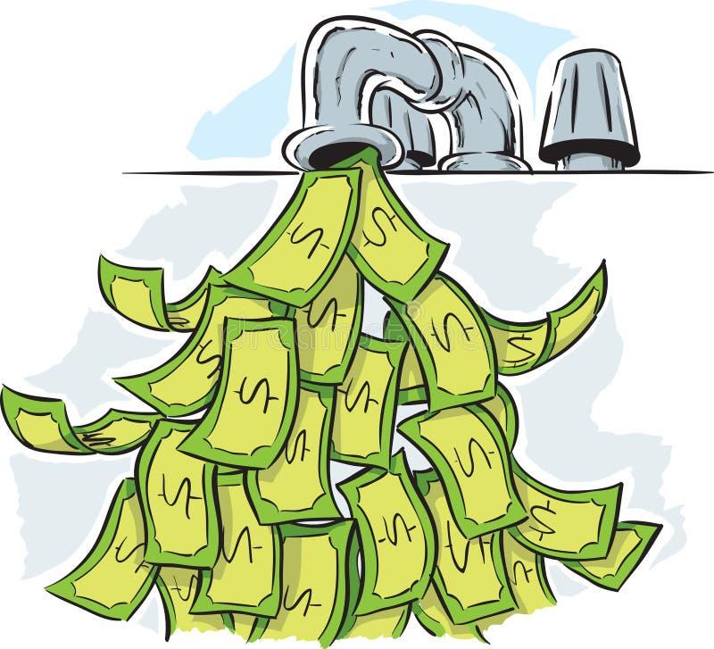 Grifo del dinero ilustración del vector