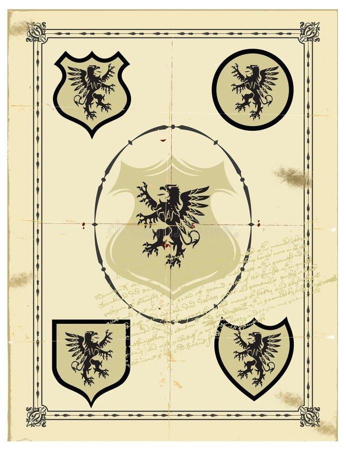 Grifo heráldico fotografía de archivo