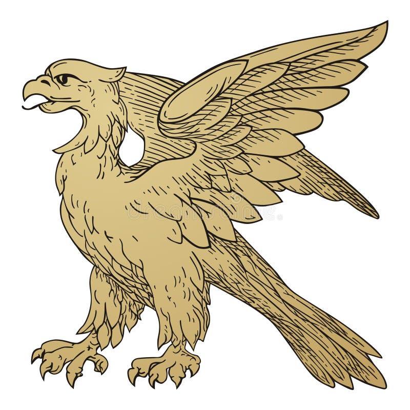 Grifo heráldico ilustração royalty free