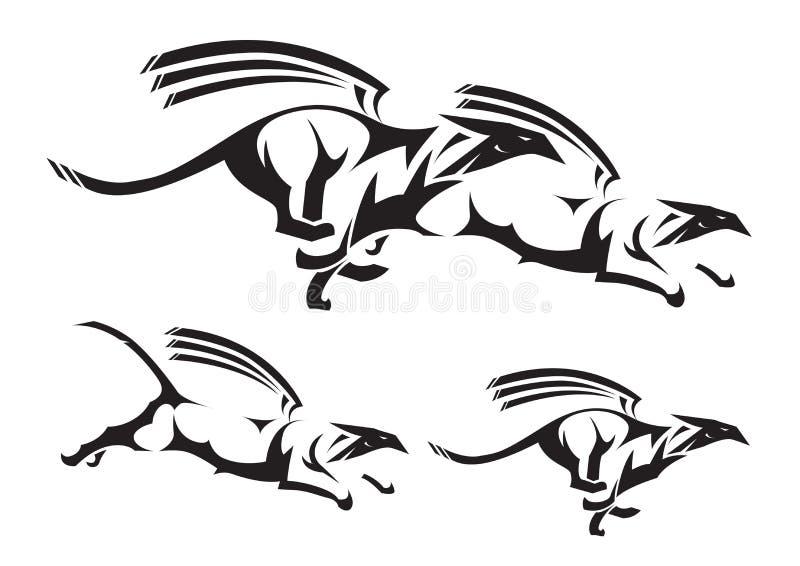 Grifo tribal stock de ilustración