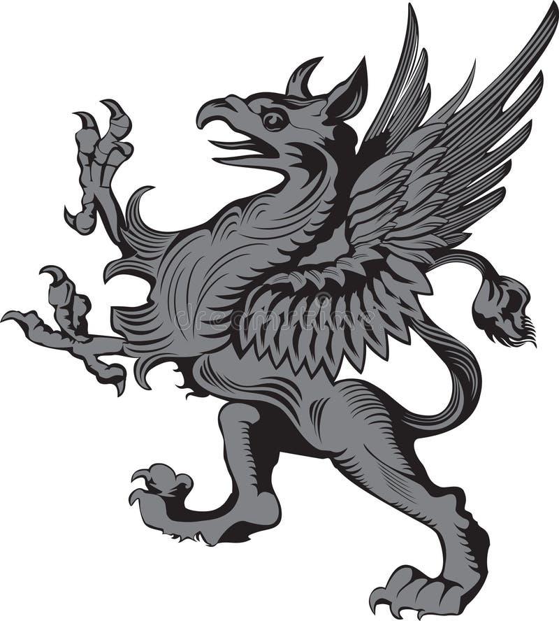 Grifon heraldisches Symbol vektor abbildung