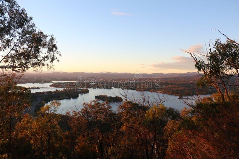 Grifone di Burley del lago ad alba immagini stock
