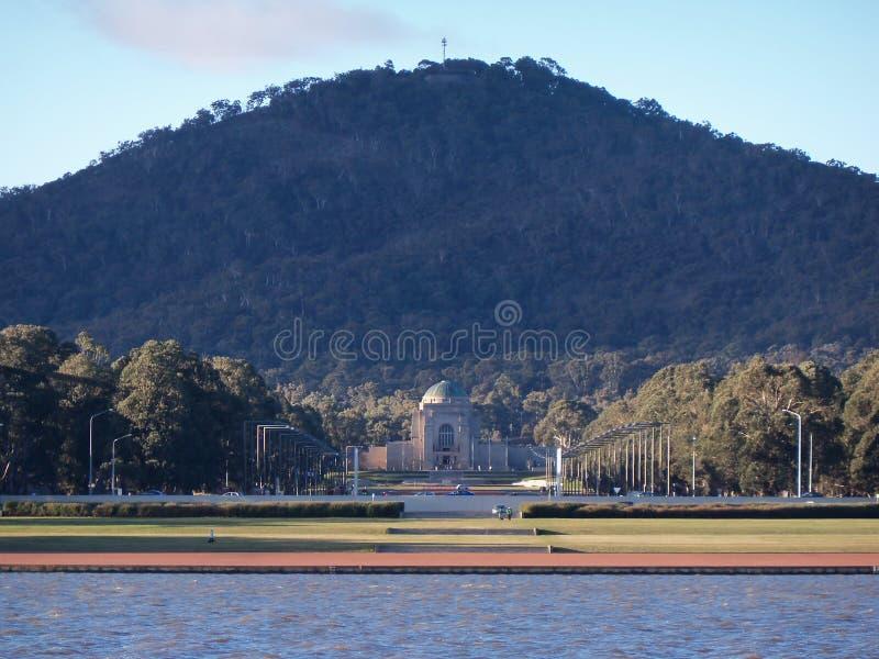 Grifone di Burley del lago, Canberra, Australia immagine stock