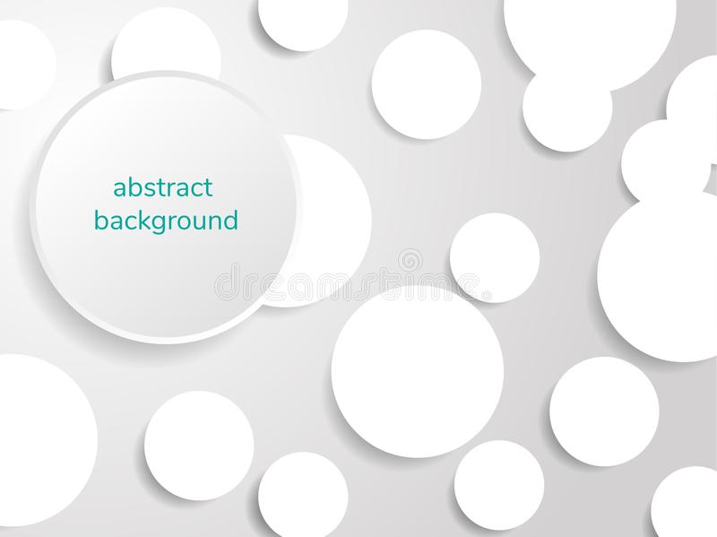 Grigio e bianco del fondo di carta dell'estratto del cerchio, illustrazione illustrazione vettoriale