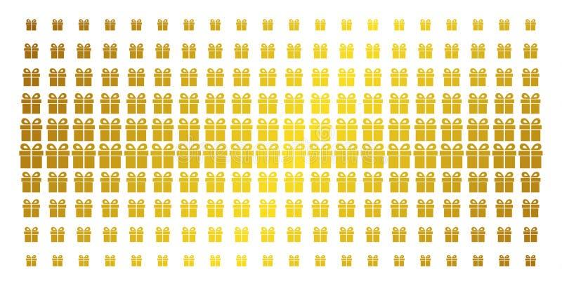 Griglia attuale del semitono dell'oro illustrazione di stock