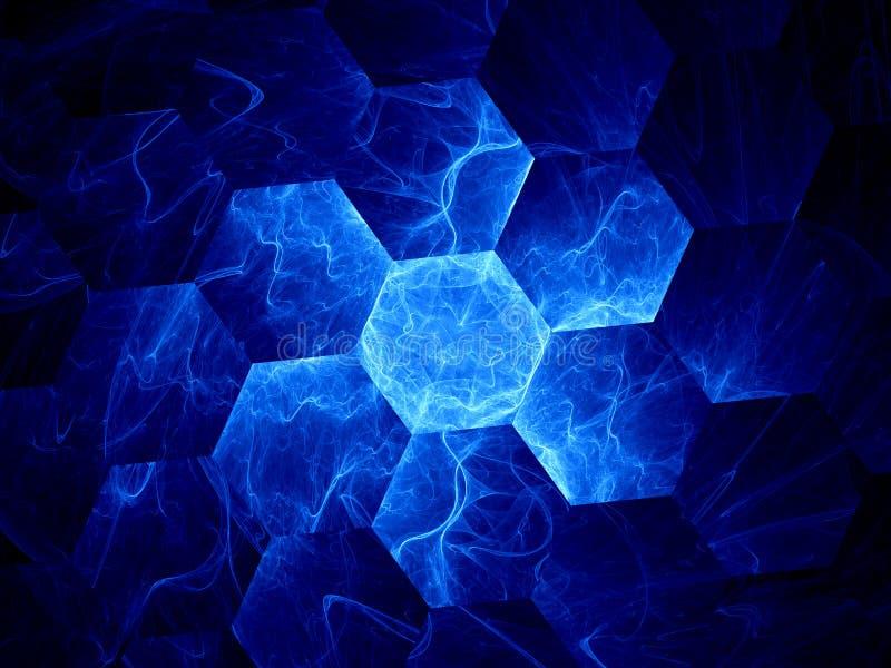 Griglia blu del graphene illustrazione di stock