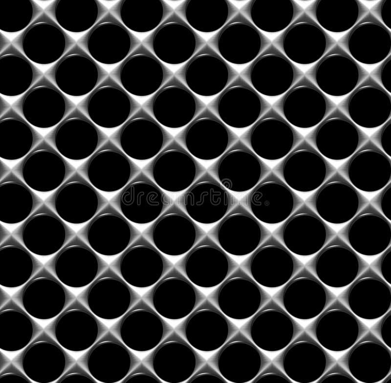 Griglia d'acciaio con il fondo senza cuciture dei fori rotondi immagine stock libera da diritti