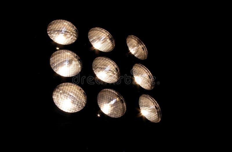 Griglia degli indicatori luminosi immagini stock