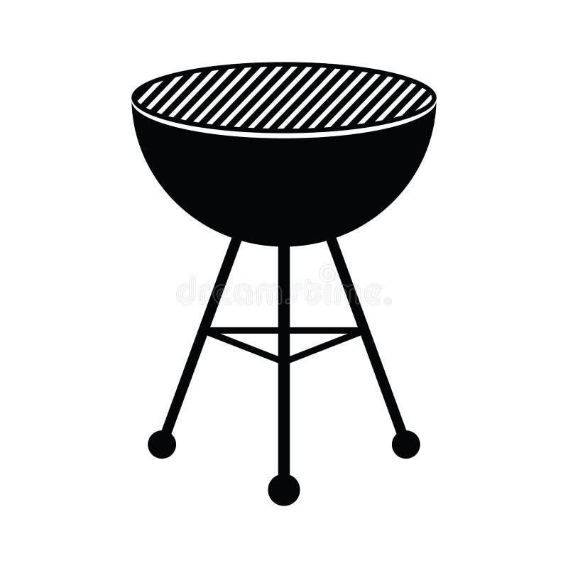 Griglia del BBQ illustrazione vettoriale