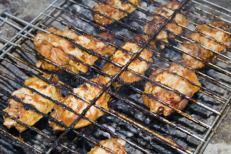 Griglia del pollo fotografia stock