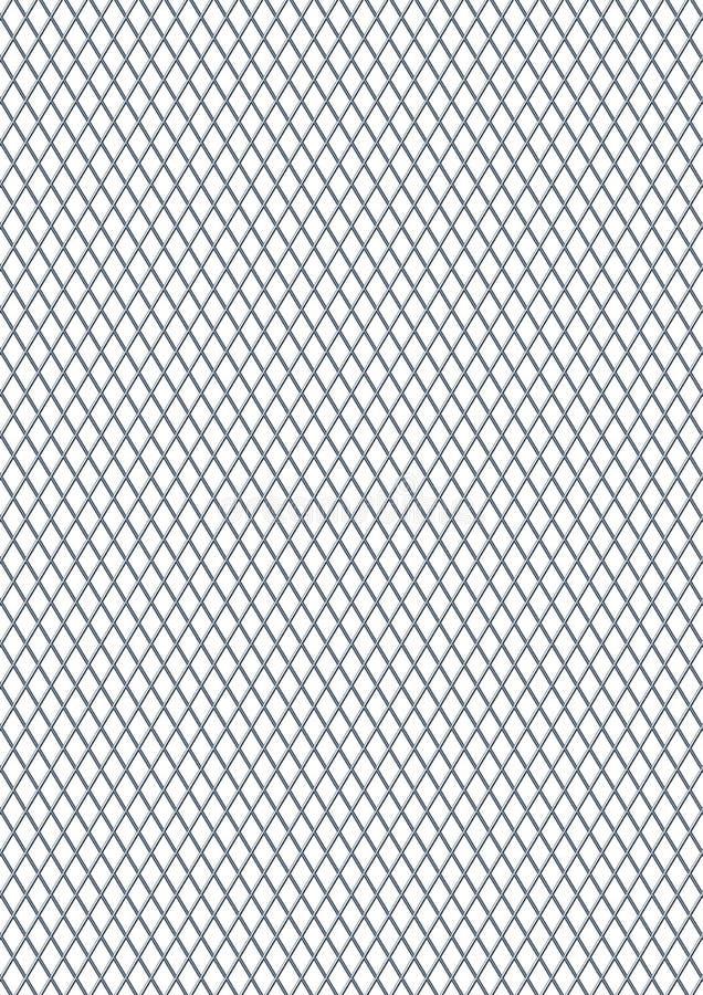 Griglia dell'acciaio del diamante illustrazione vettoriale