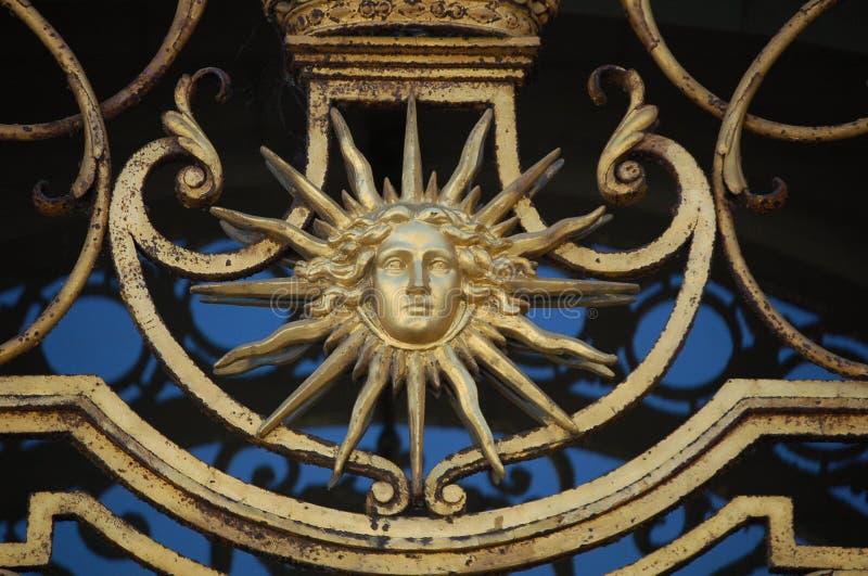 Griglia della finestra di Sun fotografie stock libere da diritti