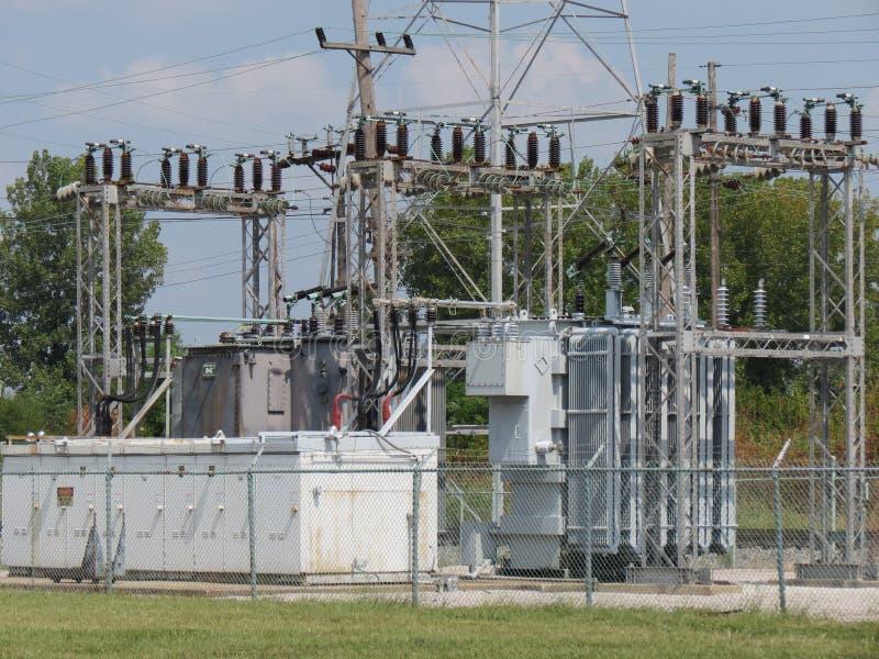 Griglia di energia elettrica fotografia stock