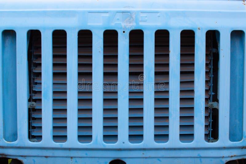 Griglia di vecchio camion fotografia stock
