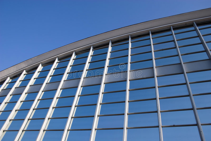 Griglia di vetro blu fotografie stock libere da diritti