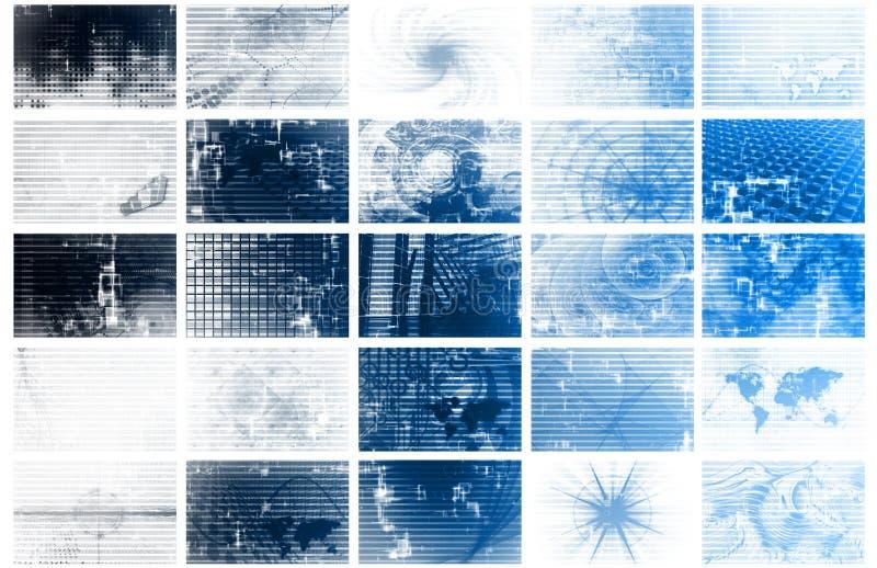 Griglia futuristica di dati di energia della rete illustrazione vettoriale