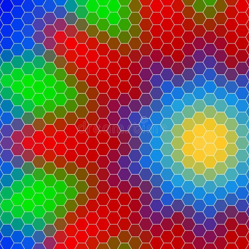 Griglia geometrica astratta di esagono, forma di un fiore royalty illustrazione gratis