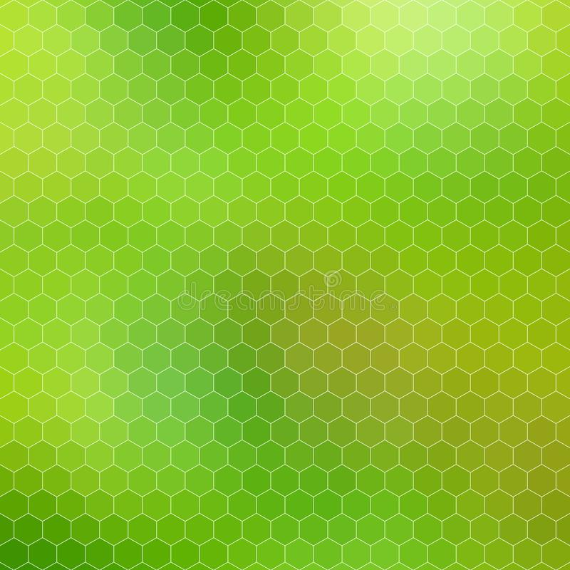 Griglia geometrica astratta di esagono - tonalità di verde illustrazione di stock