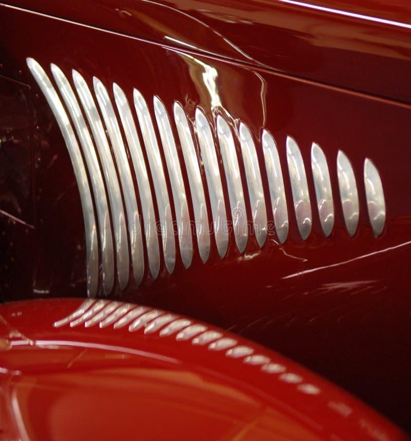 Griglia laterale dell'automobile rossa immagine stock libera da diritti
