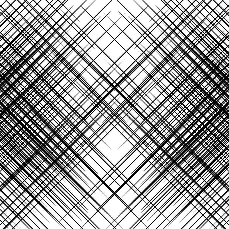 Griglia, maglia di inclinazione, linee oblique e diagonali Patte geometrico royalty illustrazione gratis