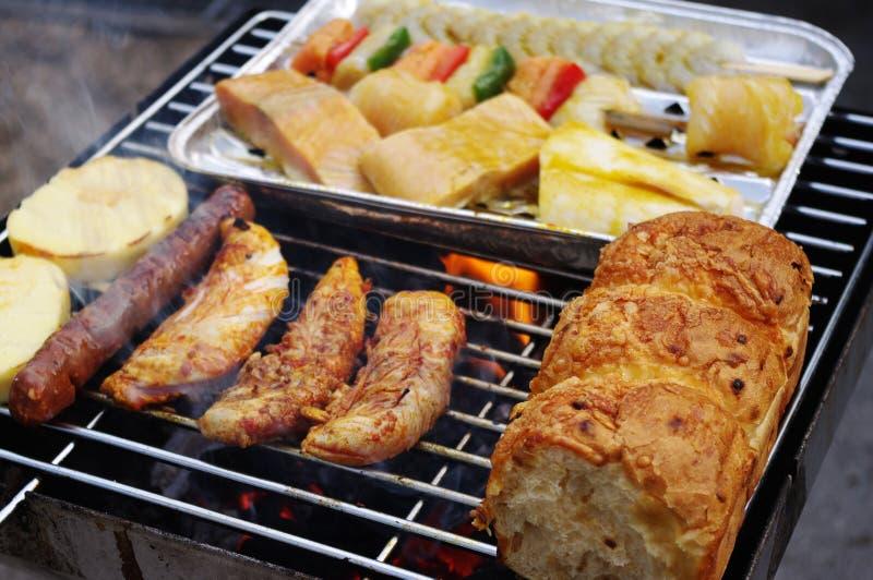 Griglia Mixed del barbecue fotografia stock libera da diritti