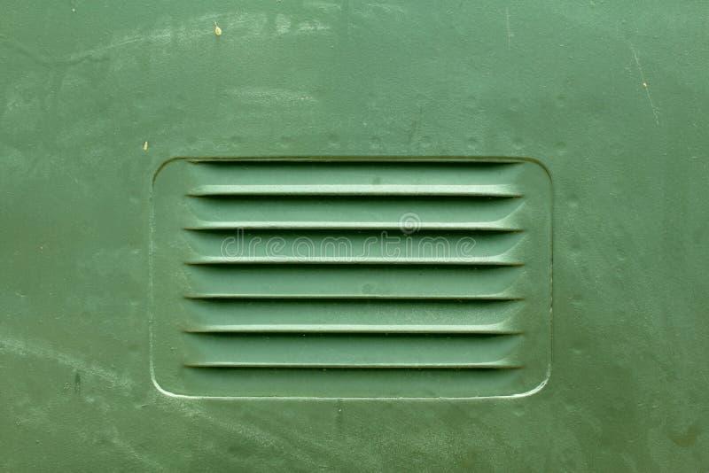 Griglia verde del metallo di attrezzatura militare fotografie stock