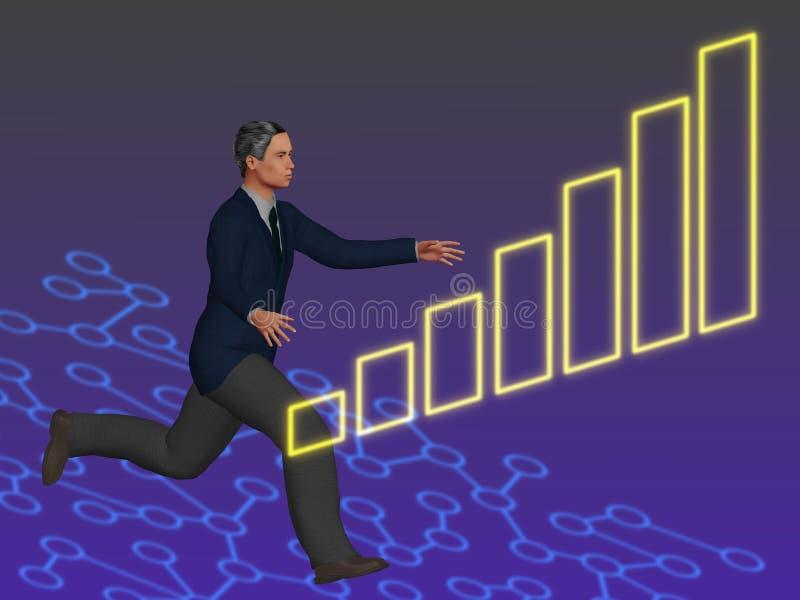 Grijp grafiek 2 stock illustratie