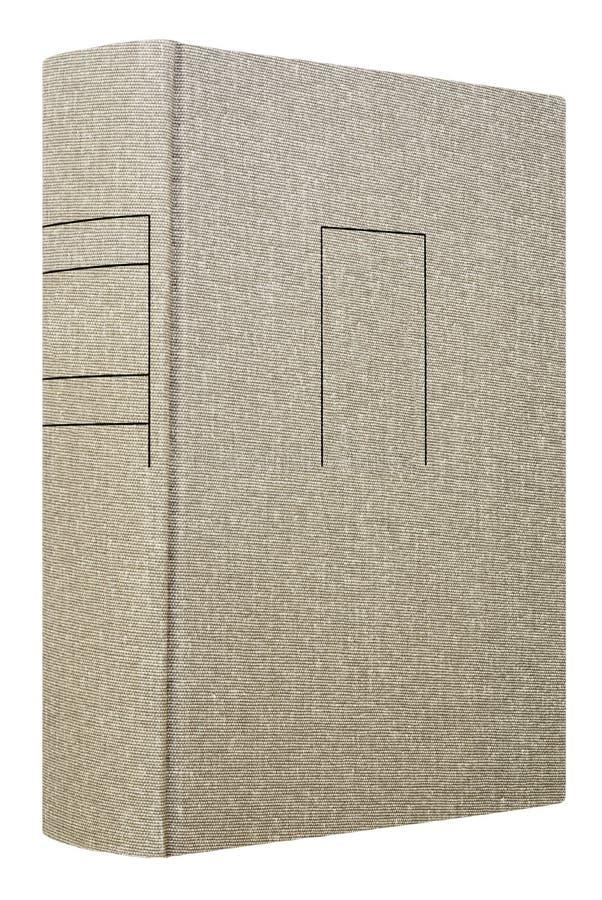 Grijs die boek op wit wordt geïsoleerd royalty-vrije stock foto