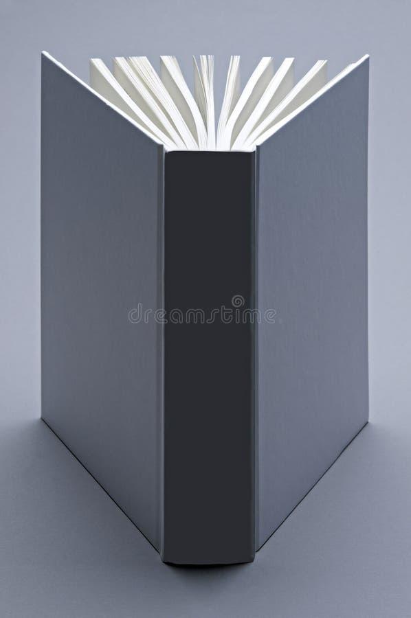 Grijs, duidelijk open boek voor ilustration stock fotografie