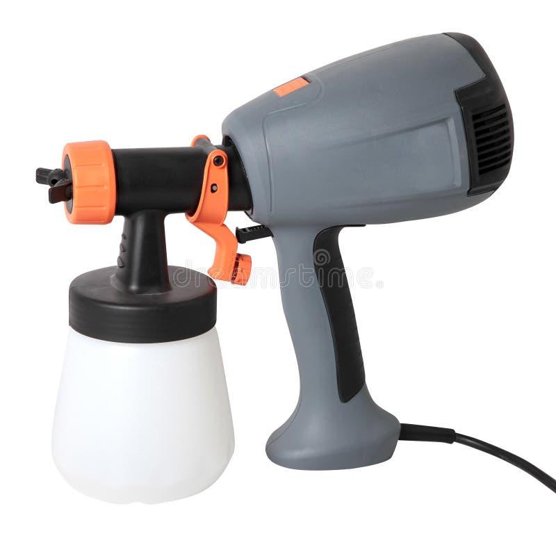 Grijs elektrospuitpistool voor kleuring, voor kleurenverpulvering stock foto